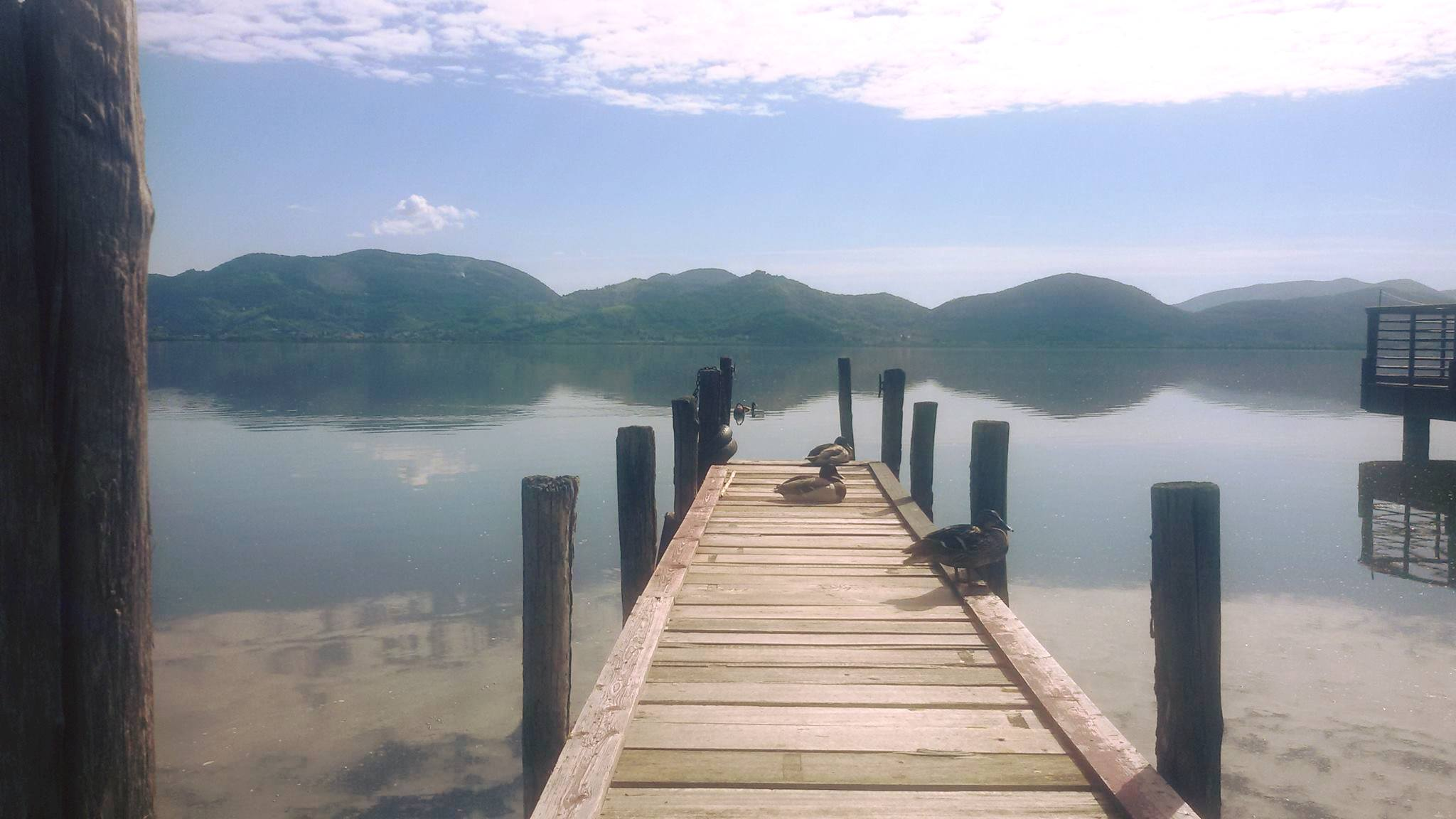 Pontile on the lake of PUCCINI